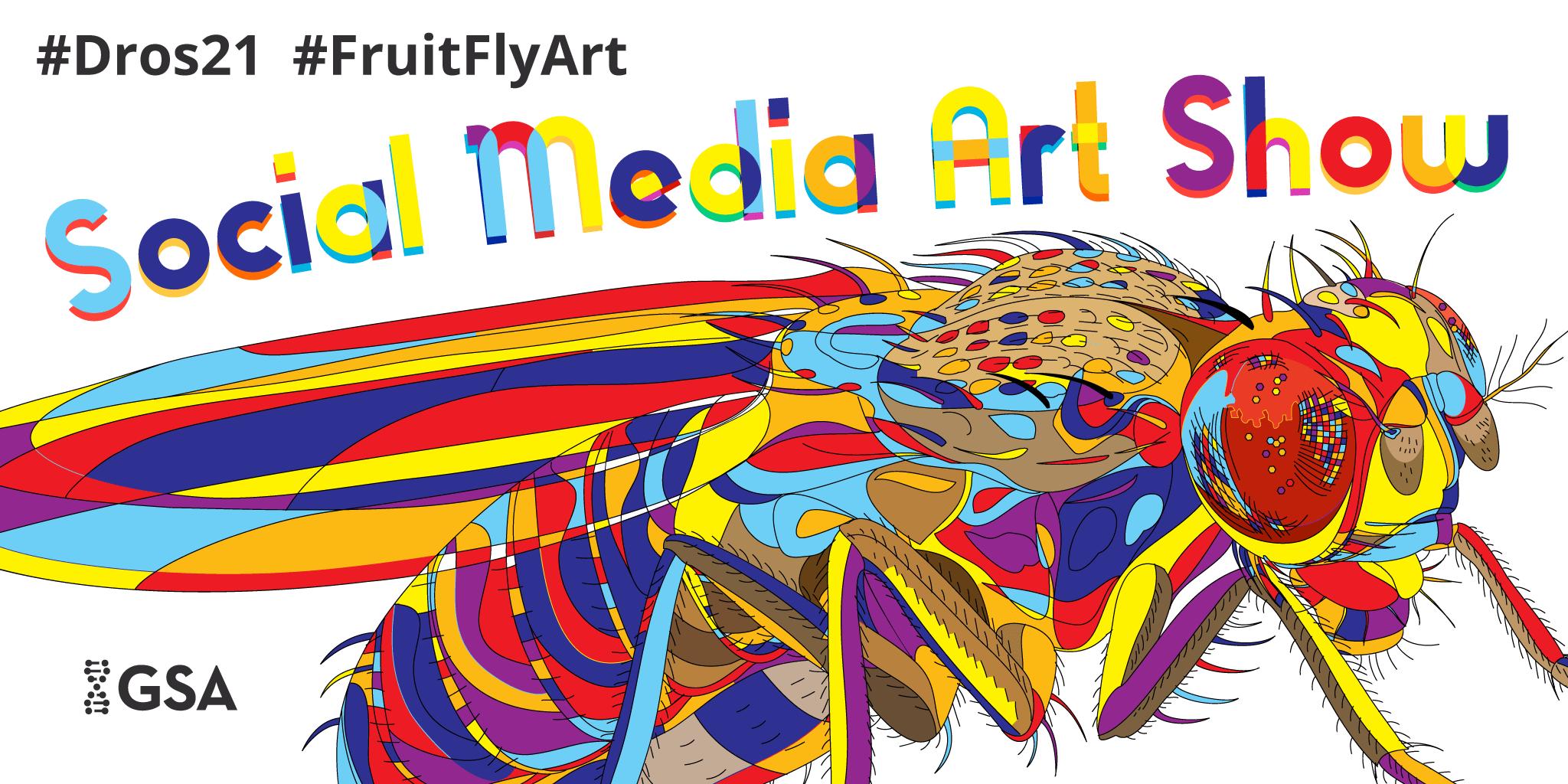 Colorful psychedelic art Drosophila