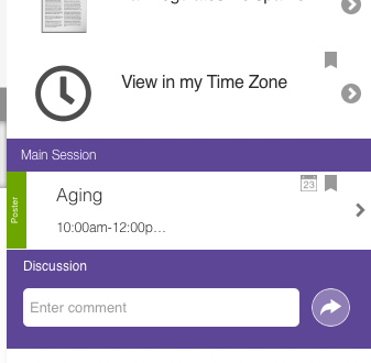 Discussion box in app