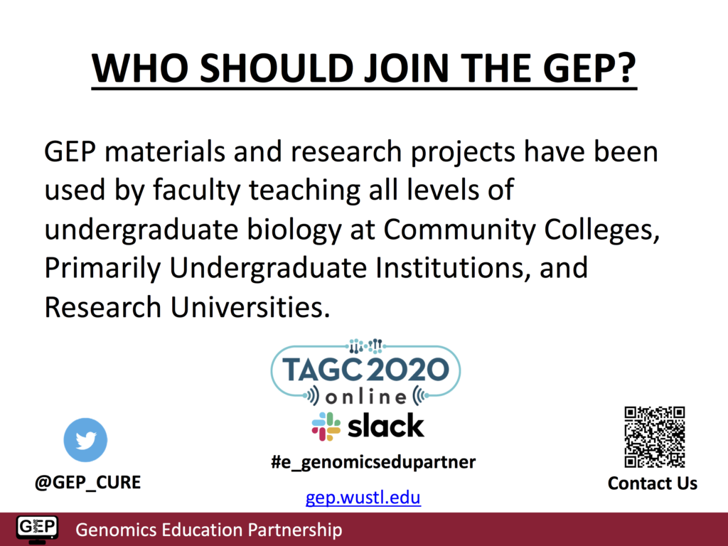Slide show information on GEP