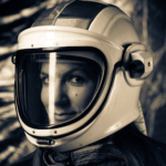 Julia DeMarines headshot. She is wearing a space helmet.
