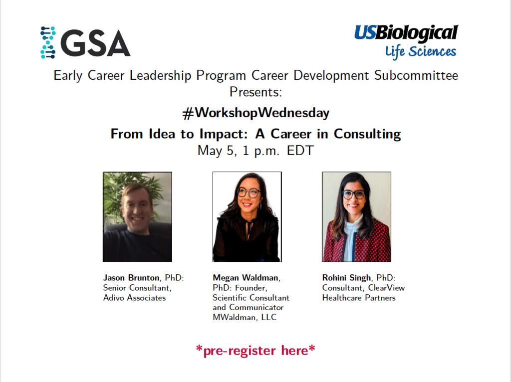 May 5 Career Development Workshop flyer
